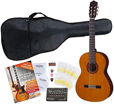 Yamaha C40 Guitarra clásica (Incluidos funda, afinador y cuerdas ...
