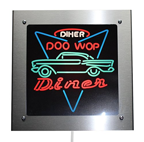 Edelstahlleuchte Diner Lampe Neon Style 1957 Chevy