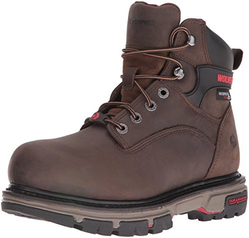 Wolverine Men's Nation 6 inch Insulated Waterproof Comp Toe-M Work Boot, Dark Brown, 11 M US