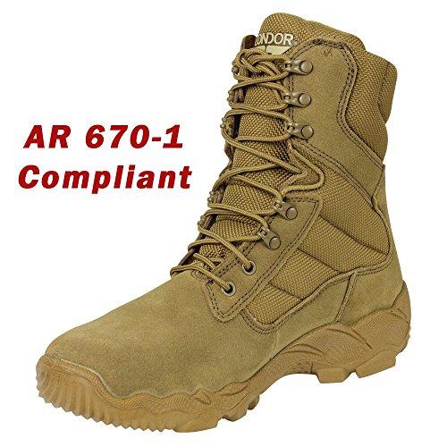 Condor Gordon Combat Boot - Coyote Brown - 9.5
