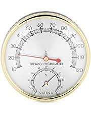 Sauna Hygrometer, 2 in 1 Sauna Room Thermometer Metal Dial Indoor Tool Hygrometer Hygro-Tool for Temperature and Humidity Measurement