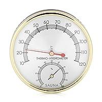 FTVOGUE – Termómetro de Metal para Interiores (higrómetro, Moderno, sencillez y termómetro, Accesorio para Sauna)