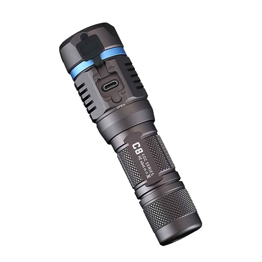 Lidahaotin NITEYE C8 Pro 1200 Lumen LED-Taschenlampe Wasserdichte Taschenlampe Lampe 230m Lichtstrahl-Abstand