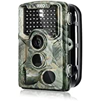 ENKEEO PH760 Trail Game Camera 16MP 1080P HD Hunting Camera 47pcs 850nm IR Night Vision IP56 Water Resistant with 0.2s Trigger Time 2.4 LCD Screen