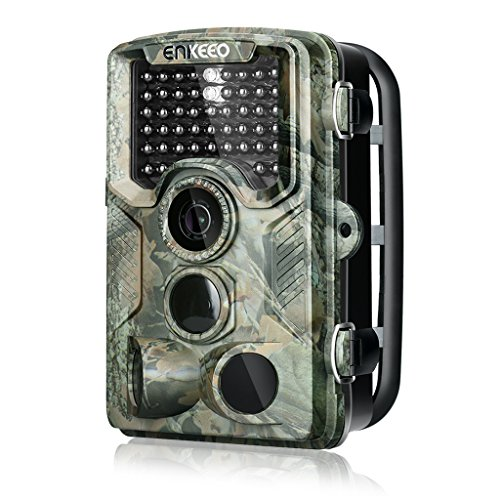 ENKEEO PH760 Trail Game Camera 16MP 1080P HD Hunting Camera 47pcs 850nm IR Night Vision IP56 Water Resistant with 0.2s Trigger Time 2.4