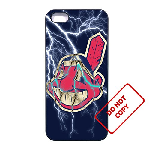 10 kinds Baseball team, indians iphone 5 case, 10 kinds Baseball team, indians iphone 5s case, SE case, soft rubber case [white] (Iphone 5s Cleveland Indians Case)
