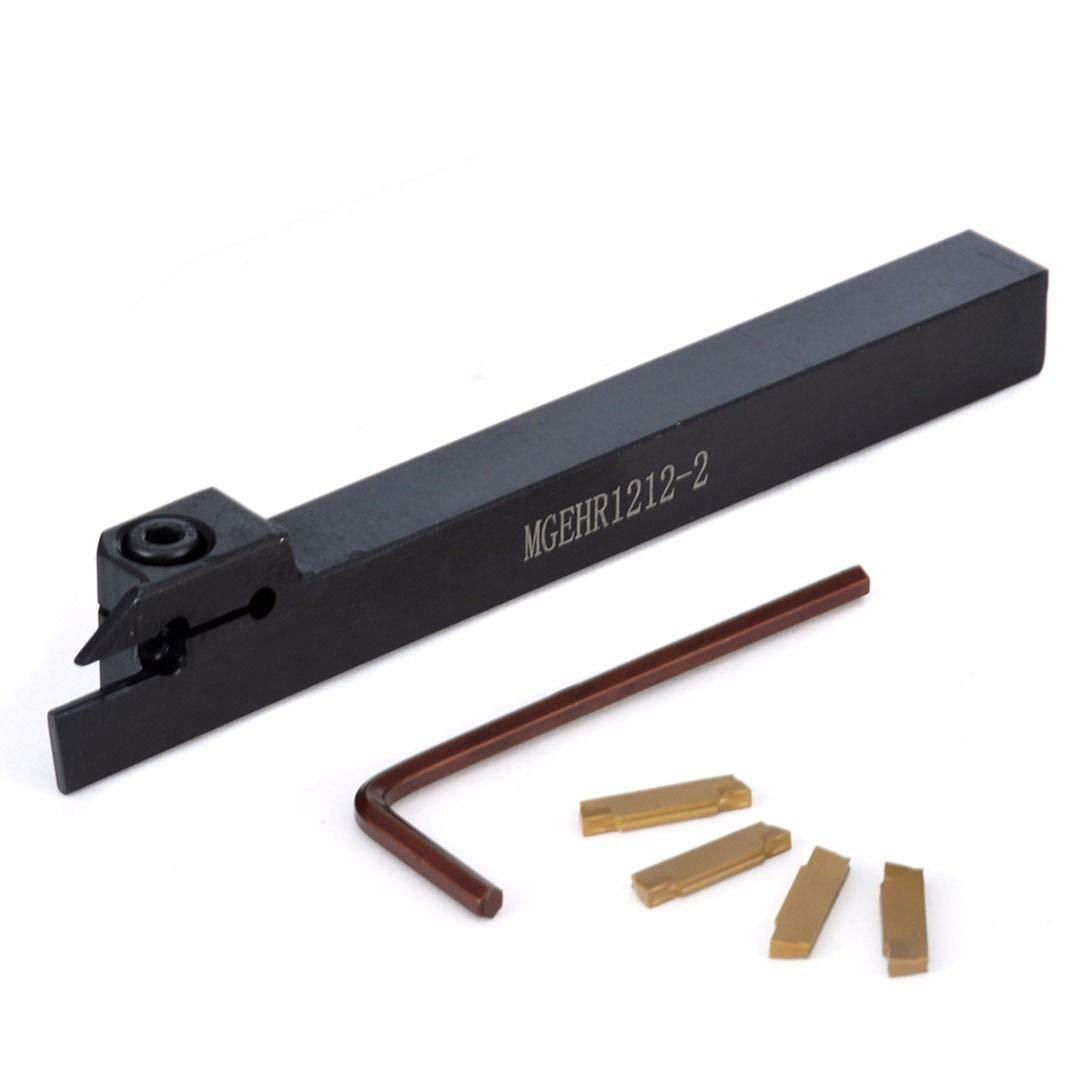MGEHR1212-2 Holder Boring Bar Turning Tool+Wrench 4pcs MGMN200 Carbide Inserts