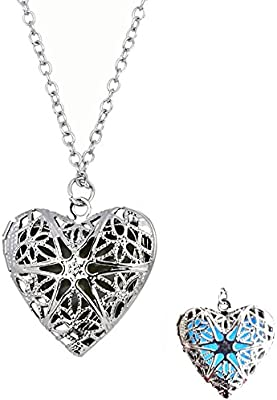 Dazzle flash Magical Fairy Glow in The Dark Necklace-aqua-sil-NGS253