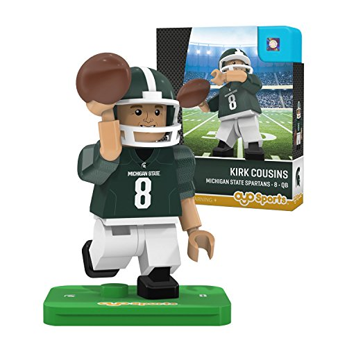 OYO NCAA Michigan State Spartans Kirk Cousins Gen 2 Player Mini Figure, Small, Black ()