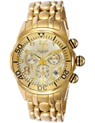 Invicta Mens 3213 Lupah Collection 23k Gold-Plated WatchDiver Chronograph Watch
