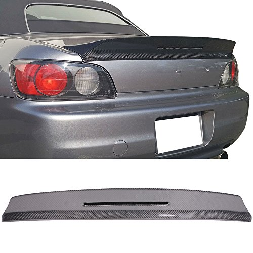 Trunk Spoiler Fits 2000-2009 Honda S2000 | TM style Carbon Fiber CF Rear Spoiler Wing Boot Lip Deck Lid Other Color Available By IKON ()