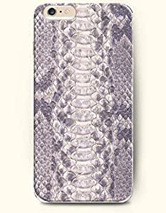 For Ipod Touch 4 Case Cover Case with of Grey Serpent Pattern - Snake Skin Print -Authentic Skin