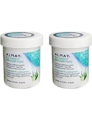 Almay Longwear & Waterproof Eye Makeup Remover Pads, 80 Count(Pack of 2)