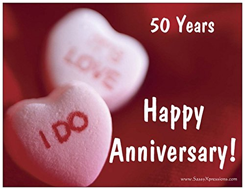 Candy Hearts 50th Wedding Anniversary -