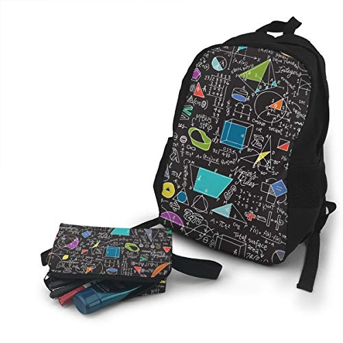 (Jiqnajn6 Math Count On It Laptop Backpack,Travel Computer Bag for Women & Men,Anti Theft Resistant College School Bookbag,Business)