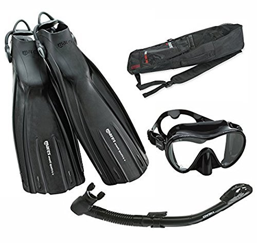 Mares Avanti Quattro Plus Fin Calypso Mask Dry Snorkel Set with Bag