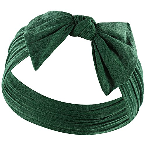 Zelda Matilda Stretchy Knot Headband,Forest Green,Newborn and ()