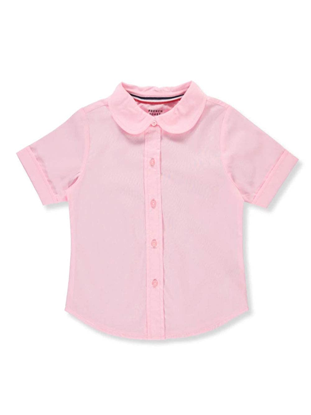 5 Pink French Toast Little Girls S//S Peter Pan Fitted Shirt