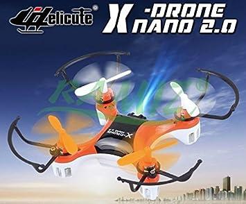 Mini Drone Cuadricóptero Quadcopter Helicute Nano 2.0 - Naranjado ...