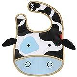 Skip Hop Zoo Tuck Away Bib,  Cheddar Cow