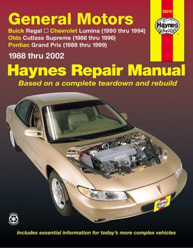 General Motors: Buick Regal, Chevrolet Lumina, Olds Cutlas Supreme & Pontiac Grand Prix, 1988-2002  Haynes Repair Manual