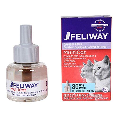 Ceva Animal Health D89420b Feliway Multicat Refill Diffuser  48Ml