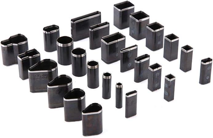 39 unids multi forma de cuero agujero perforador cortador herramientas conjunto aleaci/ón de cuero Puncher para DIY Craft