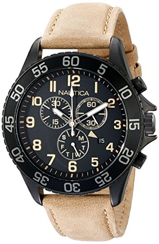 Nautica NAD17507G NST19 Stainless Leather