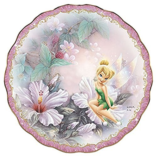 (The Bradford Exchange Sitting Pretty Tinkerbell Garden Porcelain Collector's Plate By Lena Lena Liu)