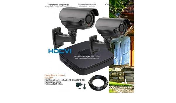 HD-CVI - Kit de video vigilancia HDCVI con 2 Cámaras exteriores varifocales - kit-547 - 2 x 2430 - Disco duro de 2 TB: Amazon.es: Bricolaje y herramientas