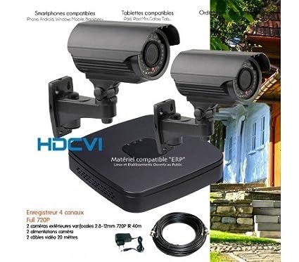 HD-CVI – Kit de video vigilancia HDCVI con 2 Cámaras exteriores varifocales – kit