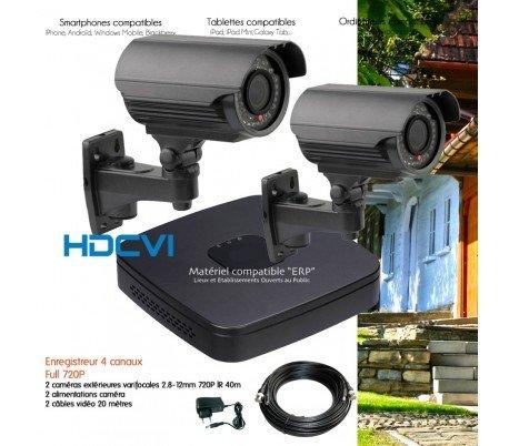 Dahua - Kit de video vigilancia HDCVI con 2 Cámaras exteriores varifocales - kit-547 - 2 x 2430 - Disco duro de 1 TB: Amazon.es: Bricolaje y herramientas