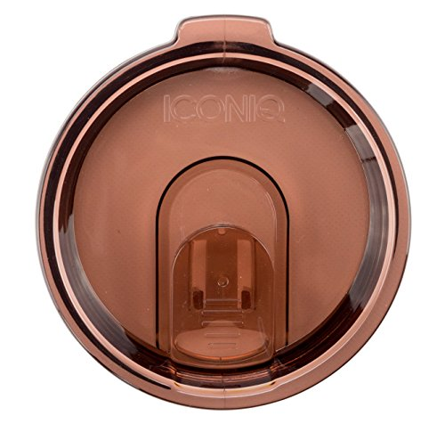 Replacement Lid with Retractable Sip Hole Cover for 30 Oz (Ounce) Insulated Tumblers   Yeti Rambler, Ozark Trail, RTIC Compatible   Straw Ready (Rose)