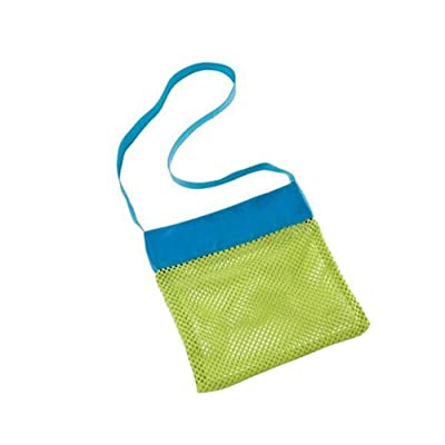Beach Mesh Bag Tote Stay Away From Sand for Children Kids Toys Shell Collect (S) 3 Pack: Kitchen & Dining