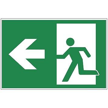 Panneau sortie de secours gauche - Exit en aluminium/Dibond ...
