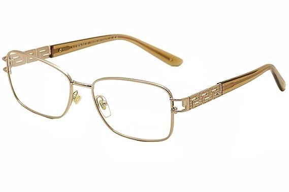 Amazon.com: Versace VE1229B - 1052 Eyeglasses Frame COPPER 53mm ...