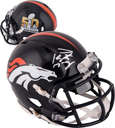 Peyton Manning Denver Broncos Autographed Riddell Super Bowl 50 Champions Mini Helmet - Fanatics Authentic Certified
