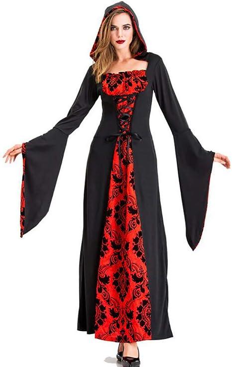 SHANGXIAN Halloween Mujer Vampiro Disfraces Fantasma Bruja Zombie ...