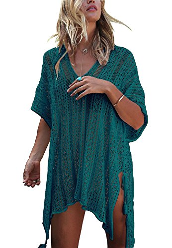 HARHAY Women's Summer Swimsuit Bikini Beach Swimwear Cover up Peacock - Cover For Suits Bathing Up
