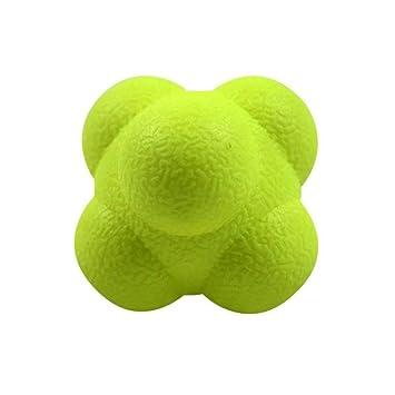 Naisicatar Pelota de reacción Rapidez y Agilidad Entrenador Bola Hexagonal TPR Velocidad de la Bola de Entrenamiento, Amarillo, Una Talla: Amazon.es: ...
