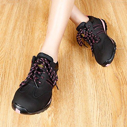 Cow Work Leather Lightweight Running Black Steel Jackbaggio Women's Training Shoe Toe 8820 Aq8g5