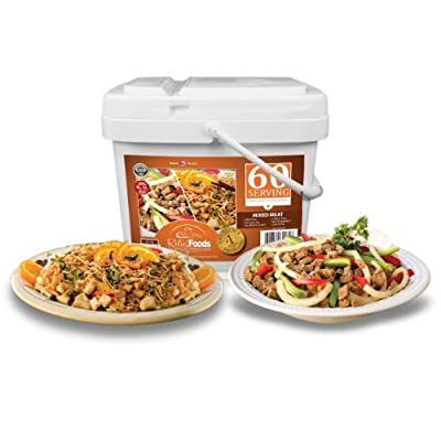 Relief Foods Freeze Dried Chicken and Beef Emergency Food Supply Bucket (60-Serving) by Relief Foods