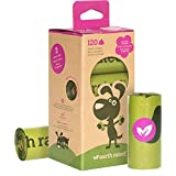 Earth Rated 120-Count Dog Waste Bags, Lavender-Scented Poop Bags, 8 Refill Rolls