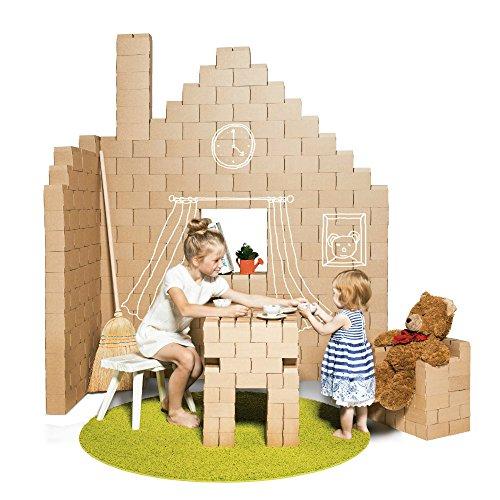 Gigi Des blocs de construction géants - jeu de construction comprenant 200 blocks de taille XXL, des cadeaux pour garçons et filles, des scénarii infinis peuvent se dérouler