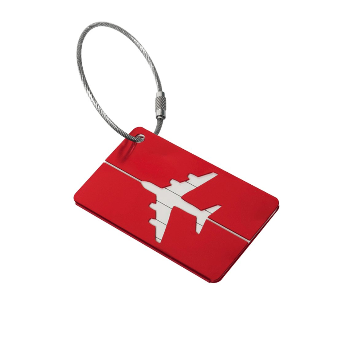 Metal Aluminum Suitcase Luggage Trailer Travel By Airbag Accessories Marker Tags Red