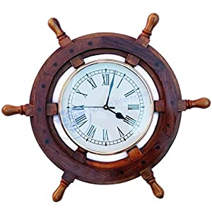 518K6GEEPML._SS300_ Best Ship Wheel Clocks
