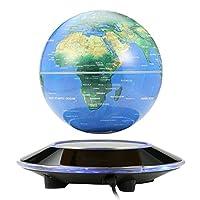 NOPTEG 6 Inch Magnetic Levitation Floating Globe - Rotating Suspension Globe - Globe World Map for Learning Gift Kids Education Home Office Classroom Desk Decoration