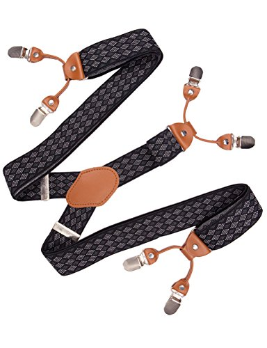 Suspenders for Men Adjustable Mens Fashion Braces Elastic Stretch Pants Straps