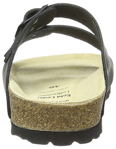 Wörishofer Bio-Pantolette 41110 - Zapatos con hebilla de cuero unisex Negro (Kiltynaturalmoose)