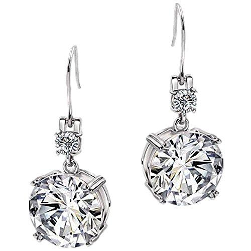 Sanmeader 925 Sterling Silver Cubic Zirconia Earring Hook Dangle Earrings For Women Teen Girls Jewelry